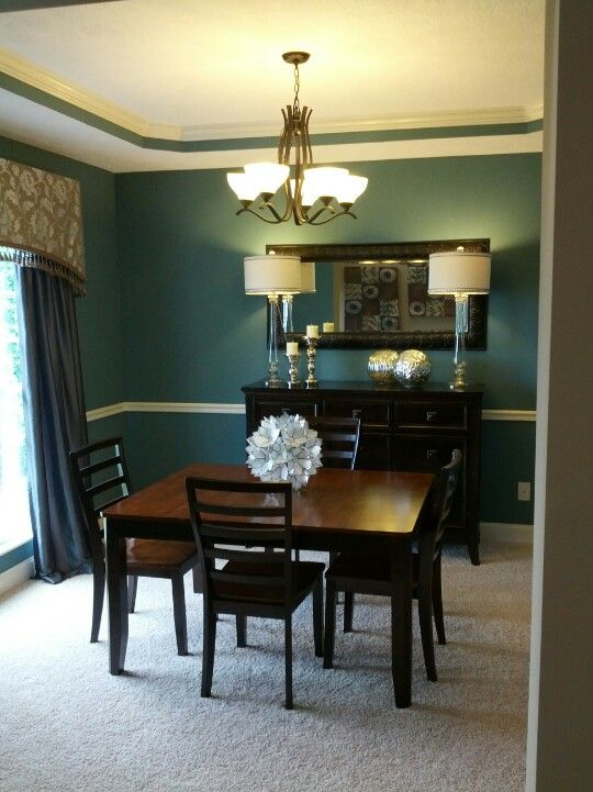 Teal dining room new house pinterest dining rooms for Dining room ideas teal