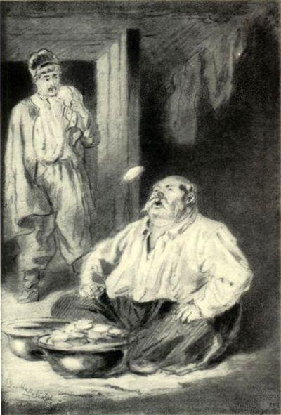 МАКОВСКИЙ ВЛАДИМИР ЕГОРОВИЧ (1846-1920).Иллюстрация к повести Н.В. Гоголя «Ночь перед рождеством».