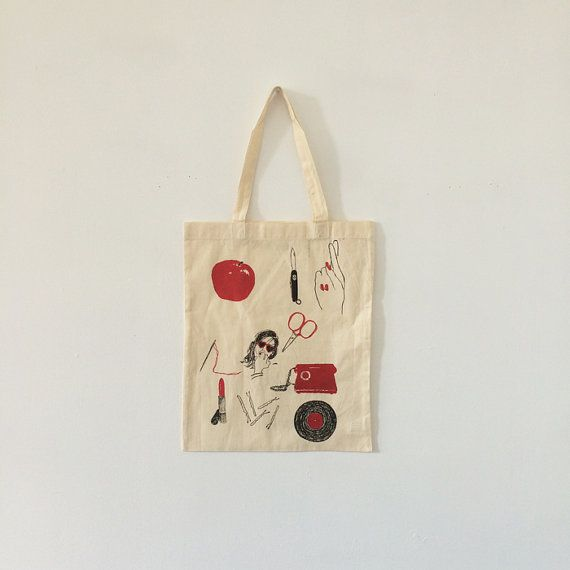 100% Cotton Canvas, Silkscreen Printed Illustration by Aimee Bee Brooks