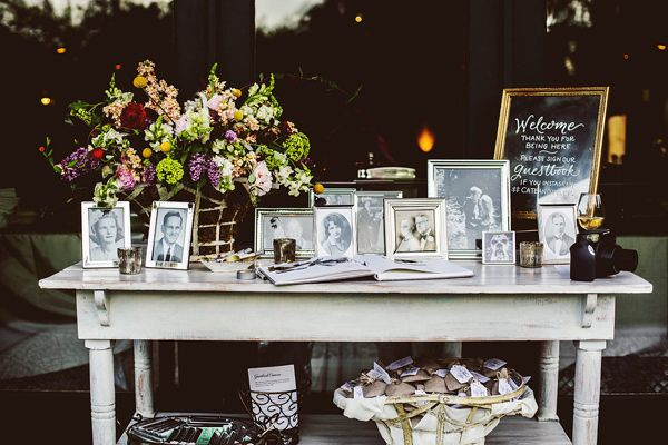 guest book table - photo by Feather Love Events http://ruffledblog.com/southern-plantation-wedding-in-charleston