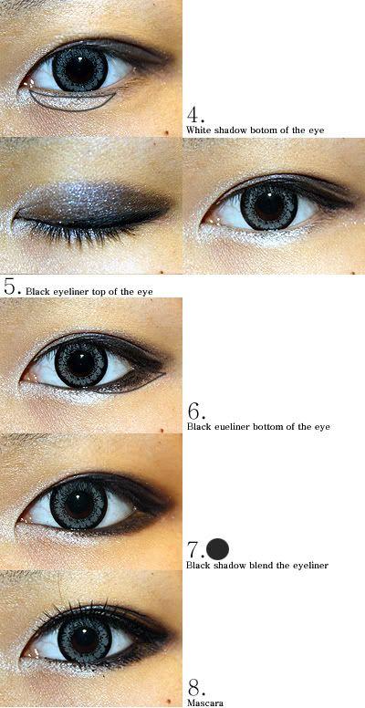 The Virtual Vixen: Korean Eye Makeup Looks - How to