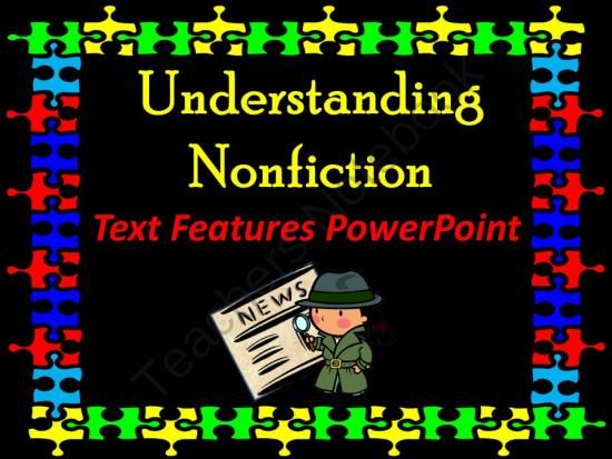 Nonfiction Text Features PowerPoint with Scavenger Hunt Activity from La-NetteMark on TeachersNotebook.com -  (16 pages)  - Animated PowerPoint about non-fiction text feature