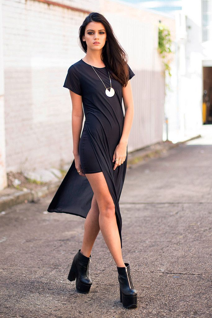 M Sheer Split Maxi Tee - LIMITED – Black Milk Clothing: