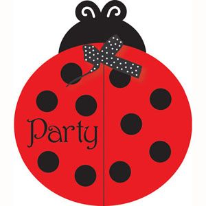 20895019 -  LadyBug Invitations Please note: approx. 14 day delivery time. www.facebook.com/popitinaboxbusiness