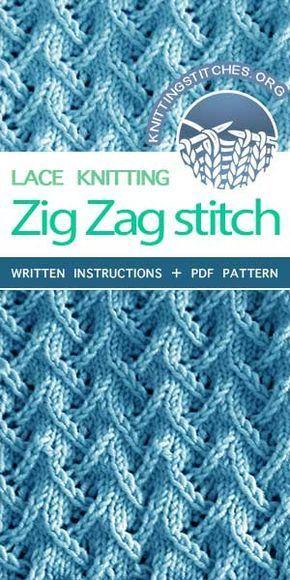 KnittingStitches.org – Zickzack-Spitze stricken lernen