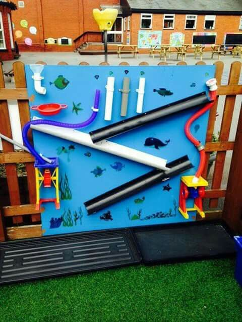 amazing tube and run water wall for kids outside play and creation
