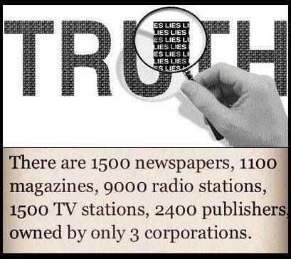To be precise, 90% of entire news/media in usa.