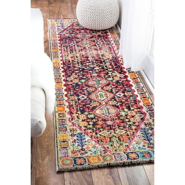 nuLOOM Distressed Traditional Flower Persian Multi Runner Rug (2'6 x 8') - 18915031 - Overstock.com Shopping - Great Deals on Nuloom Runner Rugs