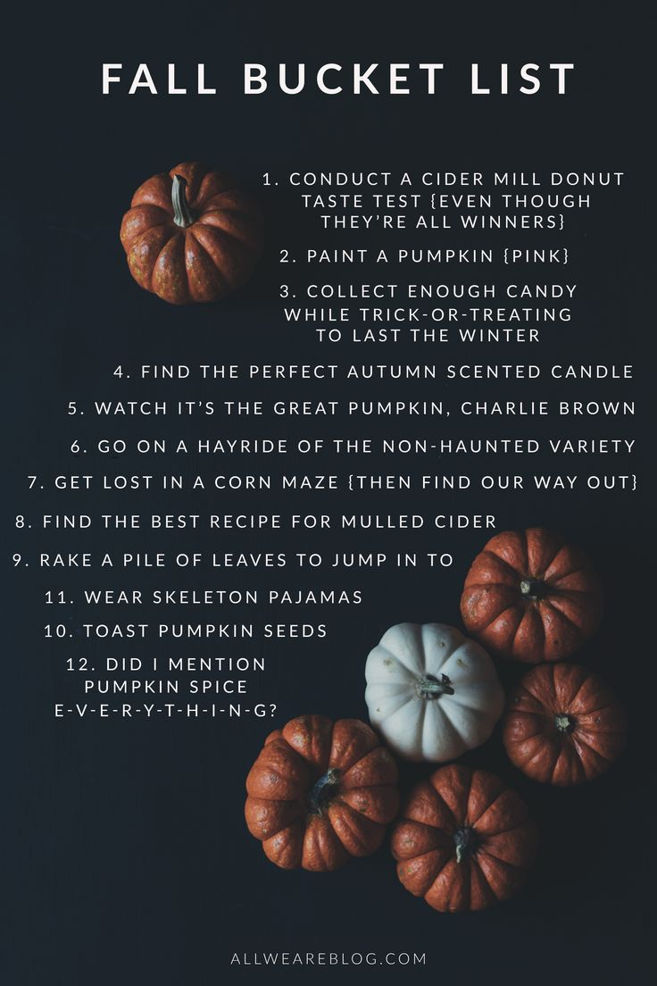 our fall bucket list | All We Are