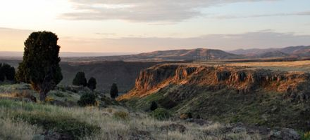 North Table Mountain Park in Golden, CO.  Links to Jefferson county park page with trail maps