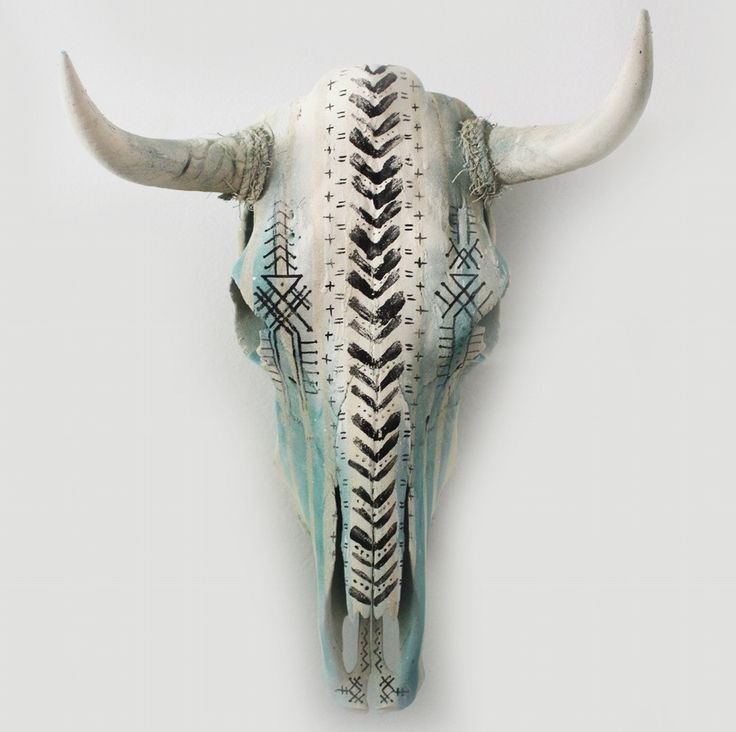 "HAND PAINTED COW SKULL BY ARTIST NATHAN KOSTECHKO Perfect for home decor, weddings or events. one-of-a-kind This genuine cow skull. Large skull Dimension: range from 28""-32"" tip to tip."