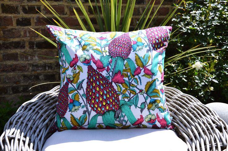 Red Flora & Fauna Cushion Cover £22.00