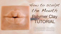 Tutorial by Celidonia Studio: How to sculpt the mouth from polymer clay for ooak dolls Come modellare la bocca in pasta sintetica per bambole ooak Blog: http://celidoniastudio.blogspot.it...