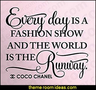 Coco Chanel Fashion Runway Quote Vinyl Wall Decal