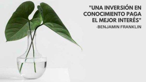 """""""Una inversión en conocimiento paga el mejor interés"""" , Benjamin Franklin. Motivación en #asivivomejor #Blog de #FinanzasPersonales y #EstilodeVida ideal"""