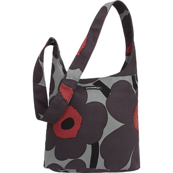 Marimekko Pieni Unikko Magone Bag in Bags and Wearables | Crate and Barrel