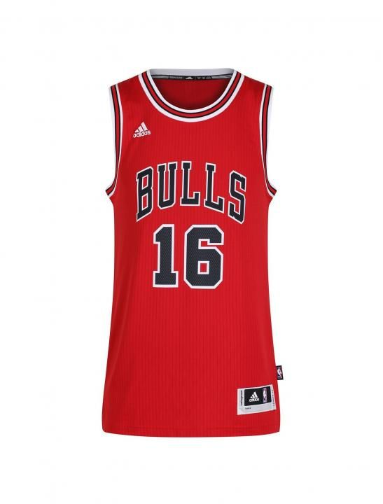 The adidas Chicago Bulls NBA Swingman Basketball Jersey is a player specified jersey for the pro basketball player. This #16 Pau Gasol edition is a Red Jersey the same as he wears on court and can be seen on court in the NBA.   As seen in the Lady Leshurr music video Juice.
