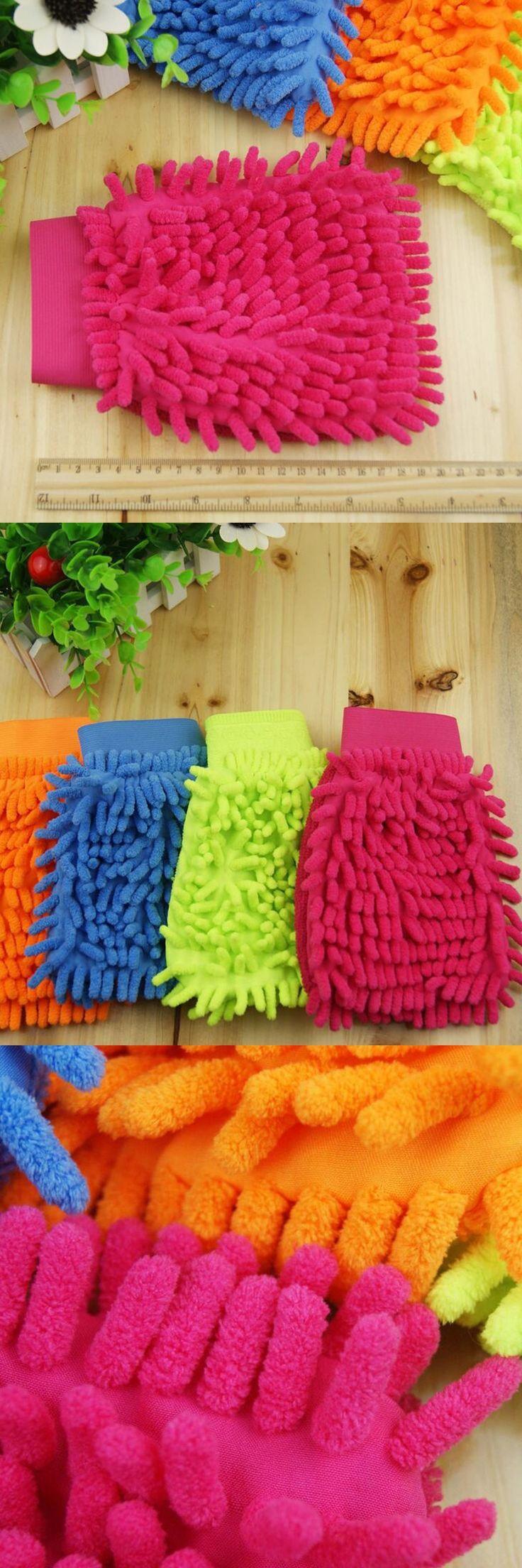 1PC Elastic cuffs Chenille Coral Velvet Car Wash Dust Removal Glove Car Wash Tools Car Cleaning Supplies Cloth Towel Glove L22