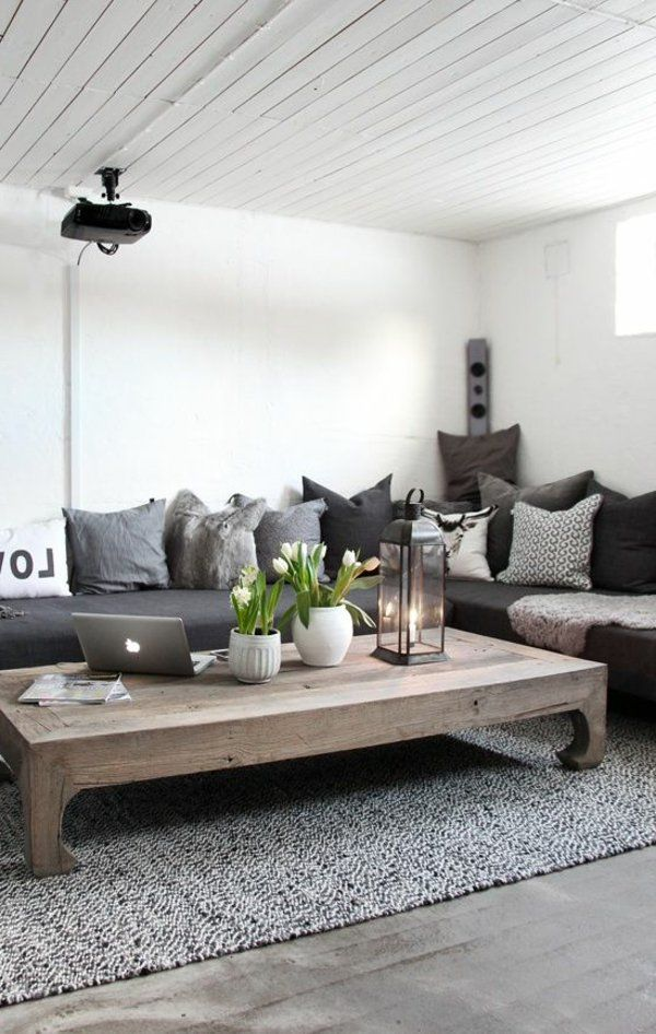 25 best Déco cocooning images on Pinterest Home ideas, Living room - amenager son salon salle a manger