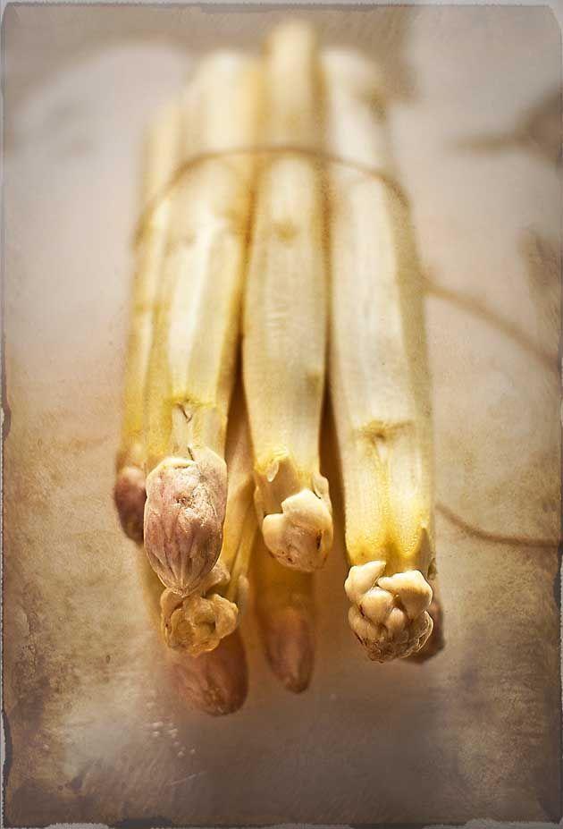 White asparagus with butter, lemon and mint | El Invitado de Invierno http://invitadoinvierno.com/verduras-legumbres/esparragos-blancos-a-la-jamie/