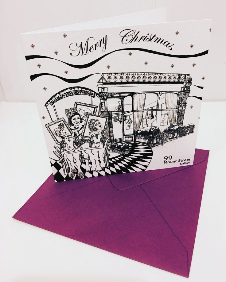 xmas card I created for 99 mount street gallery