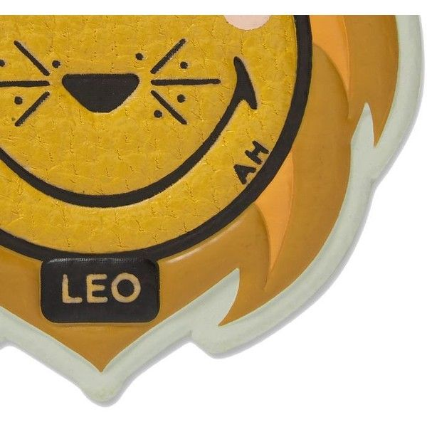 Leo Sticker ($35) ❤ liked on Polyvore featuring bags, mustard, womenbags, anya hindmarch bags, brown bag, mustard yellow bag and anya hindmarch
