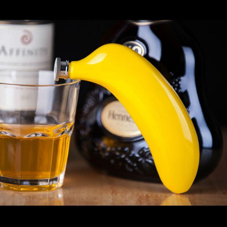 Личность Фруктов Колбу 5 унц. Пищевой Нержавеющей Стали банан Хип Колбу посуда Алкоголь Виски Ликер Бутылки подарки вино potкупить в магазине Sugar home ltdнаAliExpress