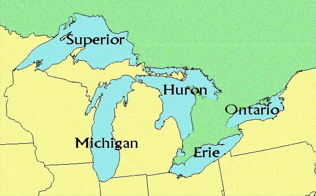 Image result for us map great lakes | Great lakes, Us map ...
