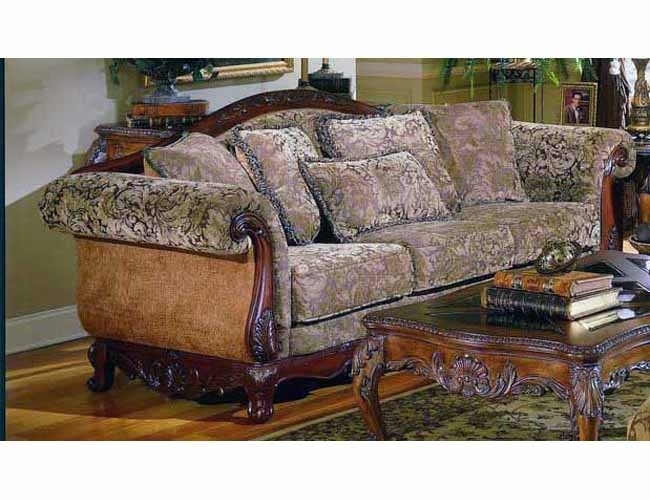 THE FURNITURE Traditional Spanish Style Living Room Sofa In Warm