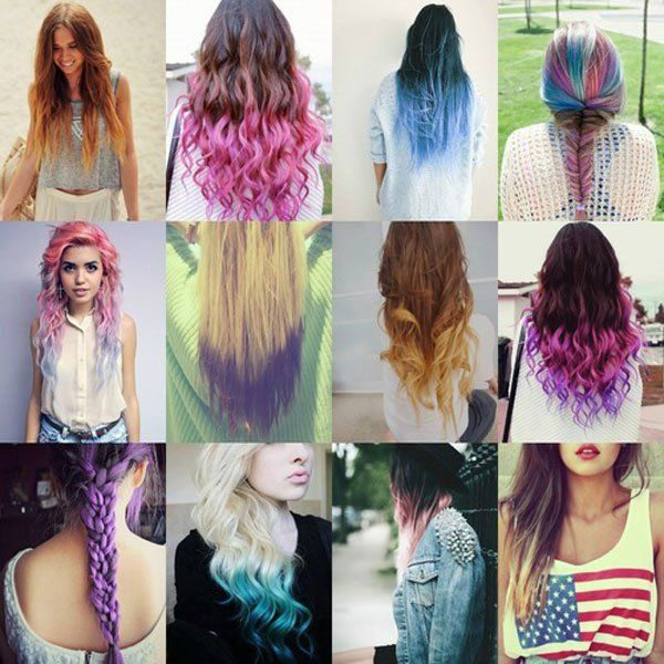 How To Dye Hair Two Colors Top And Bottom To Pop Your Summer Up Hair Styles Popular Hair Color Dyed Hair