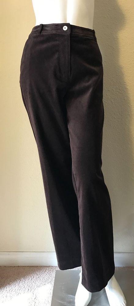 ST. JOHN SPORT NEW Chestnut Brown Velvet Jean Style Pants Size 4 NWT #StJohnSport #VelvetPants