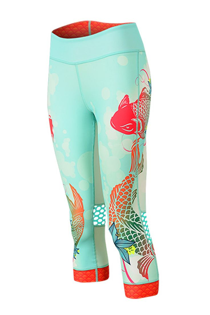 Indie Capri Koi for women's road or indoor cycling. These capris are the perfect addition to your cycling clothes!