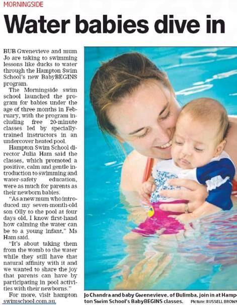 South East Advertiser talk to Julia Ham, Hampton Swim School Director, about the new Baby Begins program