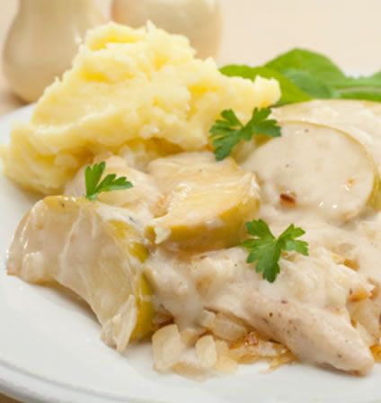 CHICKEN NORMANDY-Prepared the typical French way, this creamy chicken ...