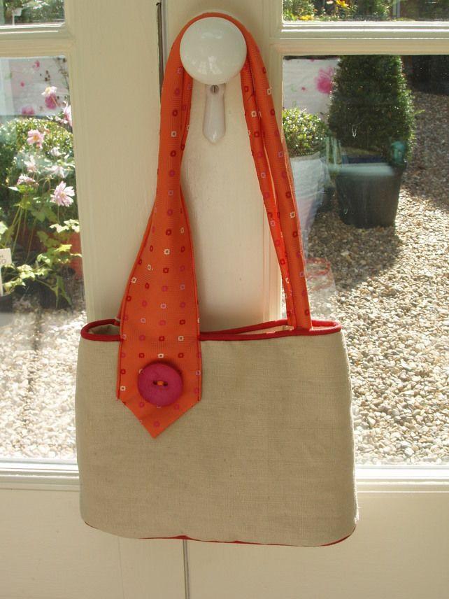 Upcycled tie handbag £30.00