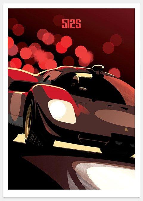 Ferrari 512S print by Guy Allen - www.guyallen.co.uk