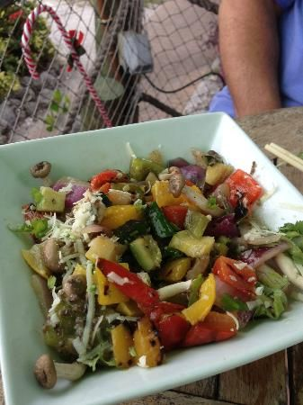 The Cottage Restaurant: roasted veggie salad. Siesta Key, Sarasota, Florida