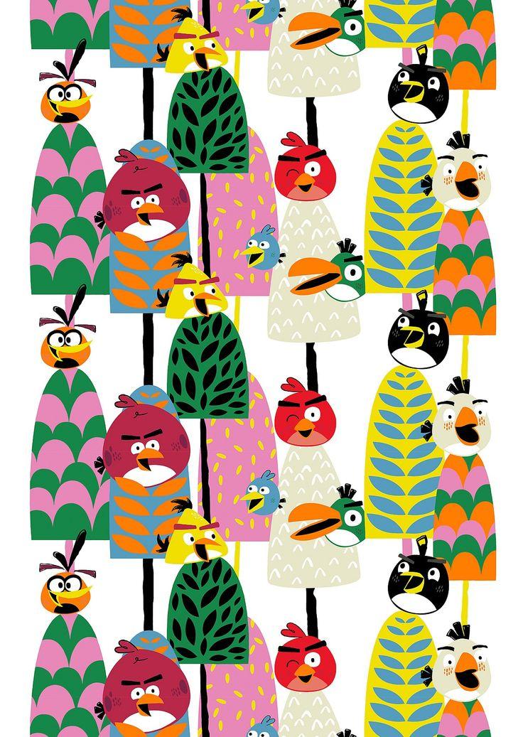 VALLILA, Sivuverho Angry Birds Forest noin 35 €/kpl, yksi tai kaksi verhoa.