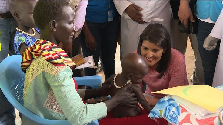US Ambassador to the United Nations Nikki Haley was moved to tears Thursday during a visit to a camp for Congolese people displaced by violence in the country.