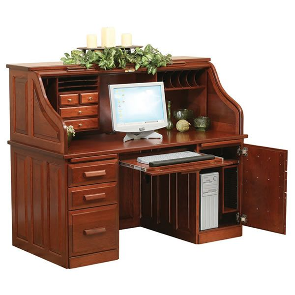 1000 Images About Roll Top Computer Desk On Pinterest