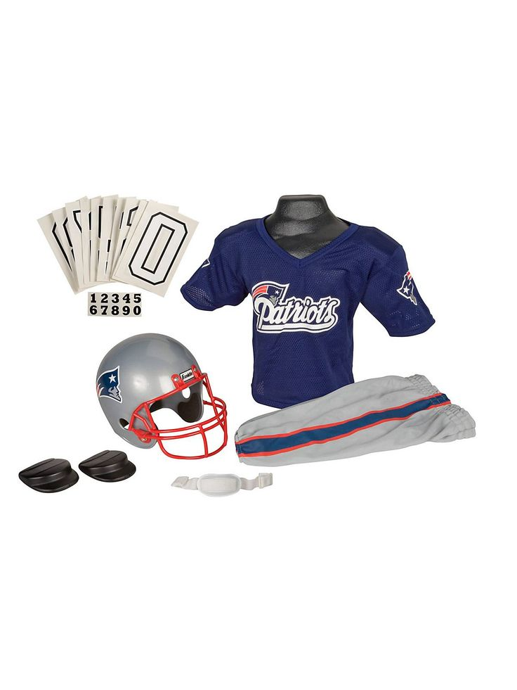 Childs NFL Patriots Helmet and Uniform Set! See more #costume accessories at CostumeSuperCenter.com