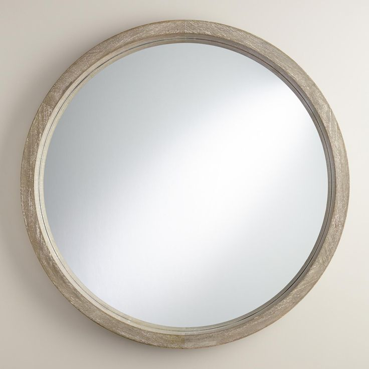 Gray Round Camden Mirror | World Market
