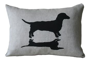 Dachshund  Cushion Cover by Paloma Le Sage