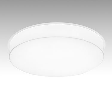 """24"""" SINGLE Circular architectural recessed luminaires featuring white sandblasted acrylic diffusers that are hand fabricated with mitered corners. The LED source fully saturates the acrylic diffuser which is available in various drops from flush to 5"""". The diffuser options create a unique glow and allow for a creative and visually attractive feature to any ceiling plane."""