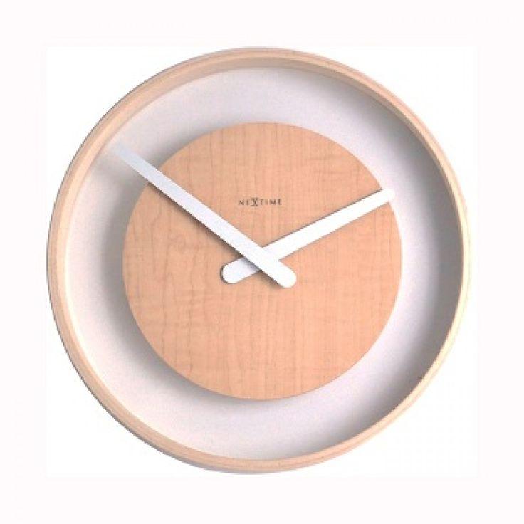 75 euro nextime klok wood loop 3046 stil met glas