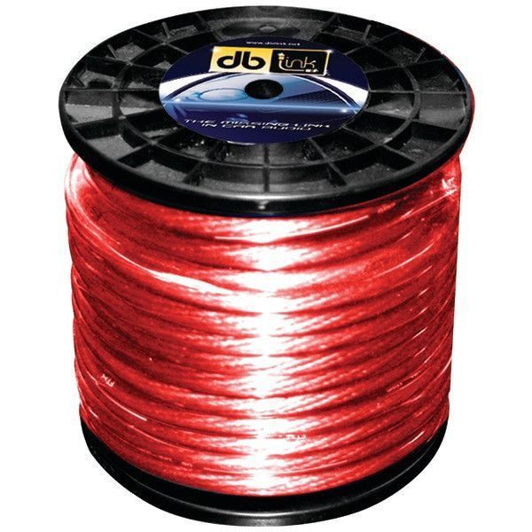 DB Link PW4R100Z Power Series Power Wire (4 Gauge, Red, 100ft)