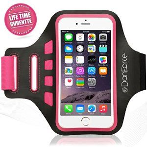 Amazon.com: iPhone 6 /6s Plus, Samsung Note 5/4, SPORTS armband - Great for Running, Cycling, Workouts or any Fitness Activity , Sweat Proof - Build in Key + Id + Credit Cards & Money Holder by DanForce (Pink): Cell Phones & Accessories