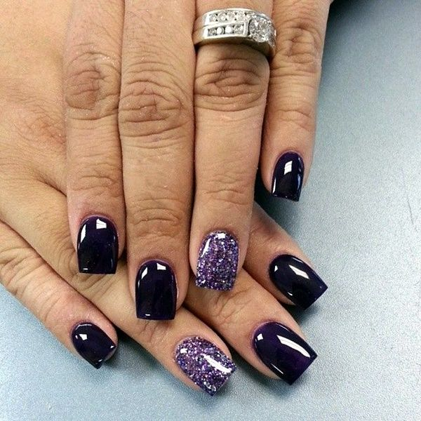 Purple Gel Nails Designs Zrom