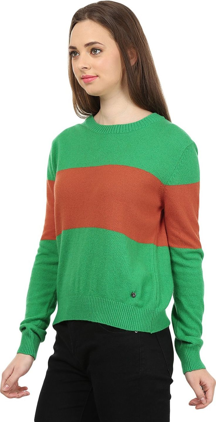 United Colors of Benetton Self Design Round Neck Casual Women's Green, Red Sweater - Buy 901 United Colors of Benetton Self Design Round Neck Casual Women's Green, Red Sweater Online at Best Prices in India | Flipkart.com