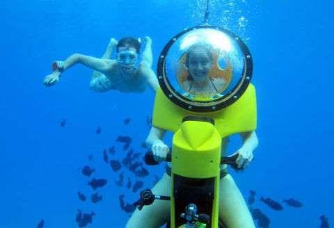 Honolulu: At Island Watersports Hawaii, get a scuba-like experience on a self-propelled submarine sc... - Provided by Popular Mechanics